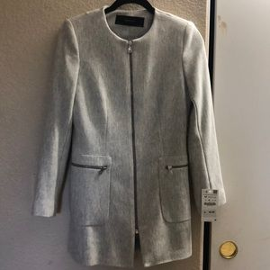 Zara Zippered Frock Coat